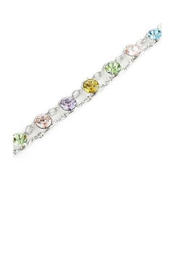 Glamorousky multi Glistening Bracelet with Multi Color Austrian Element Crystals DB901ACA558D76GS_1