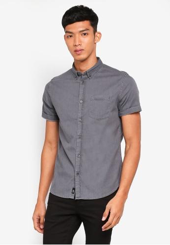 Burton Menswear London 灰色 休閒短袖襯衫 C2767AAE93C96BGS_1