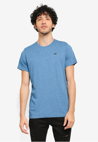 Hollister blue Core Icon Crew Neck T-Shirt HO422AA0T1BMMY_1