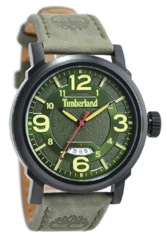 Timberland Jam Tangan Pria Hijau Leather Strap TBL14815JSB-19