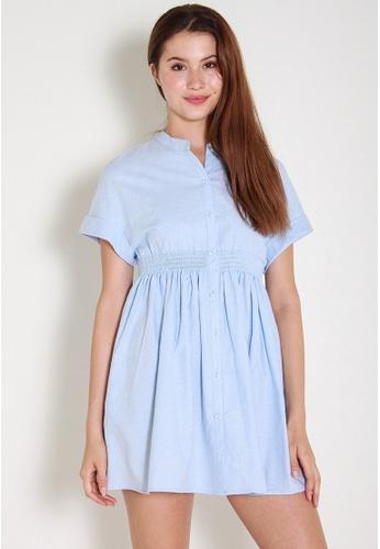 Leline Style blue Stellar BabyDoll Dress LE802AA0FKJQSG_1
