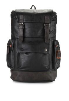 Urban State black Tas Pu Buckled Flap Large Backpack UR647AC31NYIID 1 647026fdd8