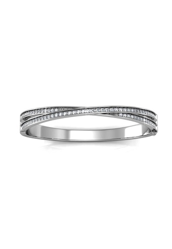 Her Jewellery silver Her Jewellery Christine Bangle with Premium Grade Crystals from Austria A06ECAC3E91464GS_1