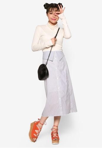 細條紋及膝短裙、 服飾、 印花時代Stylenanda細條紋及膝短裙最新折價