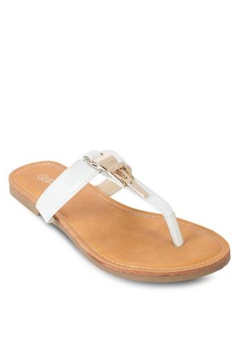 金飾夾腳涼鞋,esprit 特賣 韓系時尚, 梳妝