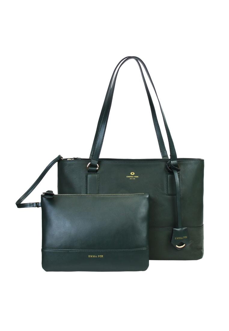 Lexington Leather Tote Bag/Nylon Hand Bag