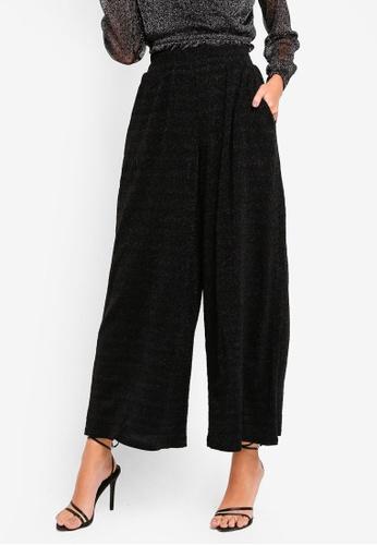 Glamorous black Wide Legged Pants B127AAAA3B5066GS_1
