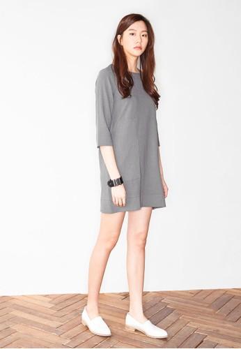 腰帶七分袖連身裙, 服飾, esprit服飾洋裝