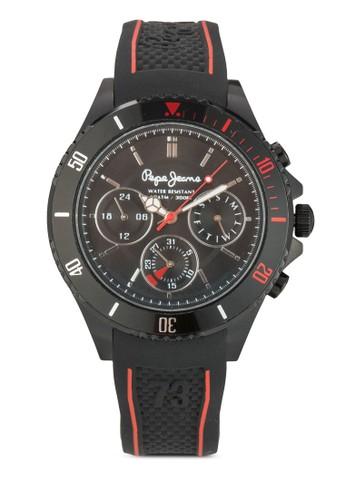 R23511050esprit mongkok02 Brian 計時矽膠男士圓錶R2351105002, 錶類, 飾品配件