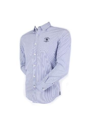 Santa Barbara Polo & Racquet Club blue SBPRC Long Sleeve Shirt 05-9202-03 FAB94AAE2BD989GS_1