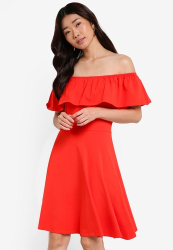 Dorothy Perkins red Ruffle Bardot Dress DO816AA73SVQMY_1