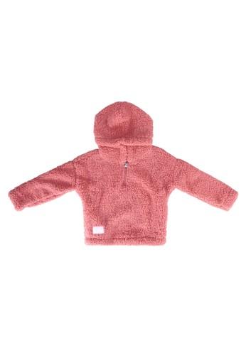 Abercrombie & Fitch pink Cozy Quarter Zip Hoodie F2E44KA76FF7C0GS_1