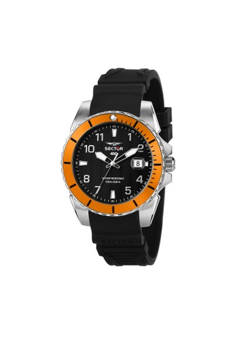 Sector black SECTOR 450 Black Silicon Band Men's Watches R3251276005 7EEF9ACDF2E23BGS_1