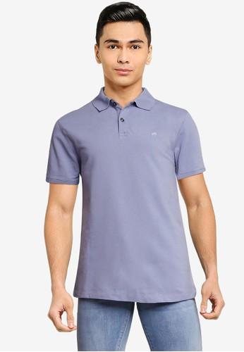 Banana Republic blue Slim Organic Pique Polo Shirt 4E767AA02D7AB2GS_1