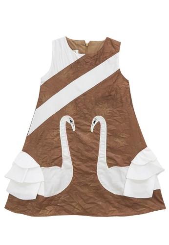 FIYORA brown Alexia Cotton Girl Dress BDDDCKA6B071B6GS_1