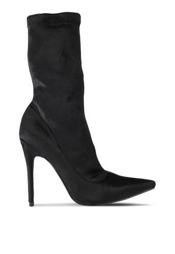 Public Desire black Direct Point Toe Ankle Boots PU378SH0SIOSMY_1