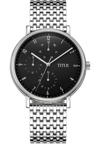 Solvil et Titus black and silver Men's Analogue Quartz Watch in Black Dial and Stainless Steel Bracelet SO598AC0GLOISG_1