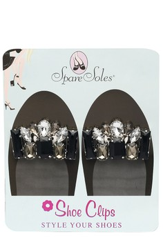 Clear Gray Shoe Clips