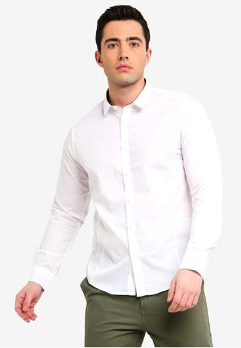 e0536e6f46f Brave Soul white Tudor Long Sleeve Button Shirt 8614BAAFC238DEGS_1. CLICK TO  ZOOM