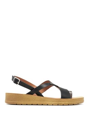 Carlo Rino black Carlo Rino 33370-C023-08 Strappy Flat Sandals F9048SH4D81AC3GS_1