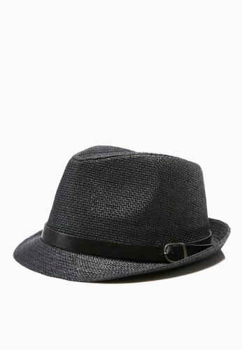 編織esprit outlet 台灣紋。紳士草帽-05184-黑色, 飾品配件, 紳士帽