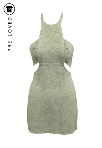 Reformation grey Pre-Loved reformation Mini Gray Open Back Dress 2F93AAA08B2877GS_1