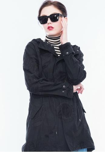 Alpha Style black Kameko Embellished Parka AL461AA0GYH1SG_1