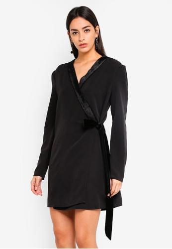 Vero Moda black Tux Mini Wrap Dress 12FBFAAE1B1439GS_1