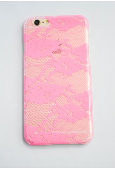 Lace Glossy Transparent Hard Case for iPhone 6