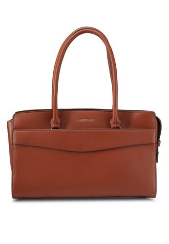 Fiorelli brown Flapover Tote Bag FI529AC0SYBJMY_1