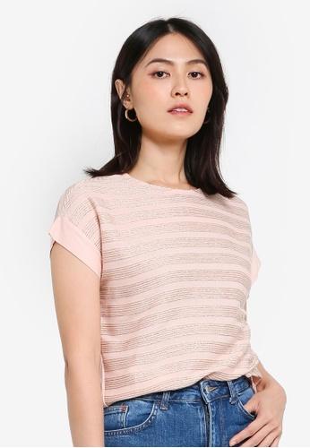 KOTON pink Lurex T-Shirt CD438AA13C219FGS_1