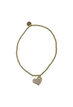 Beaded Heart Texture Bracelet