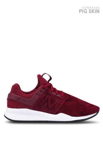 New Balance red 247 Lifestyle Suede Shoes 2636DSH8752554GS_1