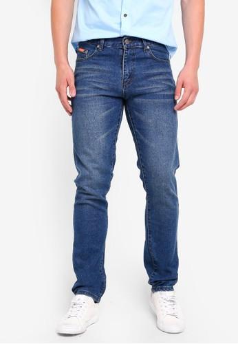 Fidelio blue 518 Slim Fit Stretchable Washed Denim 286CFAACD30EB5GS_1