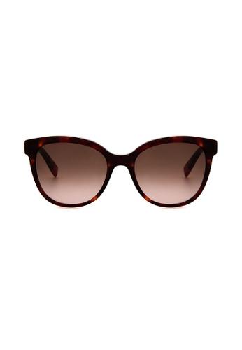 Furla Furla SFU045 Havana Brown/Gold Sunglasses  FU454AC0RAMMMY_1