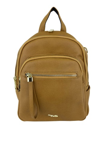 Mel&Co brown Faux Leather Backpack F2541AC17C5031GS_1