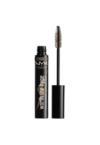 NYX Professional Makeup brown NYX Worth The Hype Volumizing & Lengthening Colored Mascara - BROWNISH BLACK 677AABEEDE5DCCGS_1
