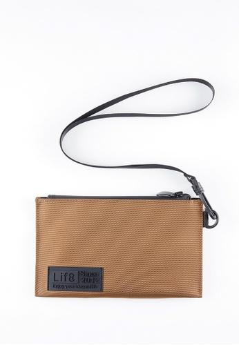 Life8 brown Casual Hanging Multilayer Passport 3C Storage Bag-06440-Khaki B23B4AC9F11103GS_1