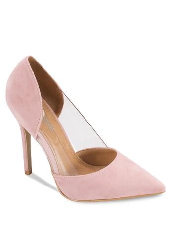 Perspesprit 童裝ex 透明拼接高跟鞋, 女鞋, 鞋