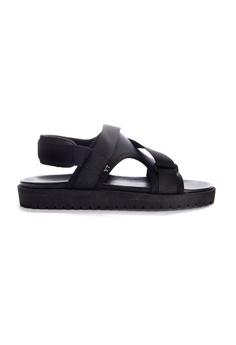 9faee0ea0fd17 Yoke   Theam black Gray Sandal 754FBSHAC3586BGS 1