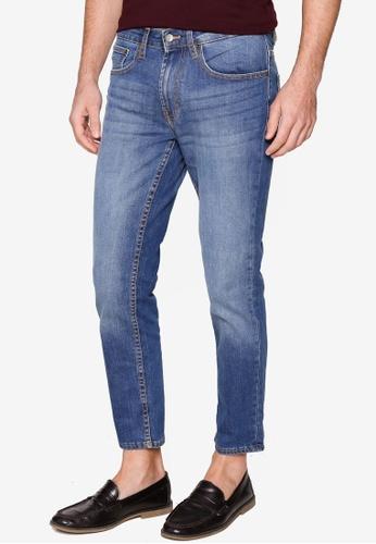 Burton Menswear London blue Mid Blue Slim Jeans 8EA9EAA7DEC9D7GS_1