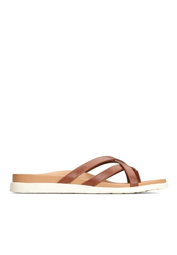 Vionic brown Daisy Toe Post Sandal 49851SH8879774GS_1