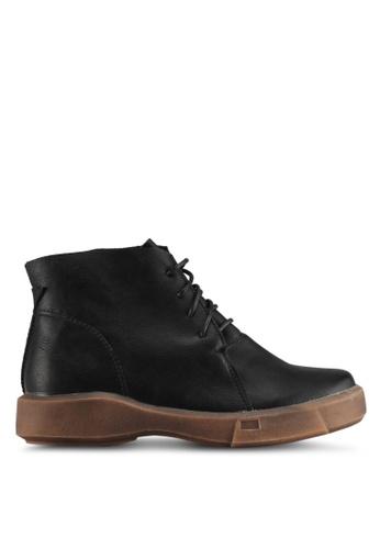 Spiffy black Western Trendy Lace-Up Ladies Boots D6940SH61126D4GS_1