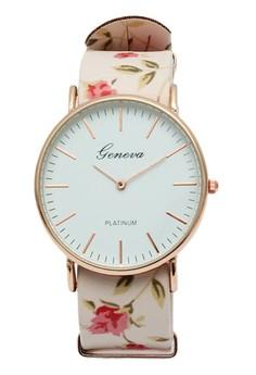 Linda Floral Long Strap Watch