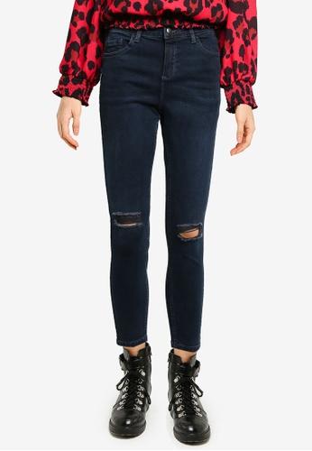 Dorothy Perkins navy Short Black Darcy Rip Denim Jeans 13D7CAACA0FF5DGS_1