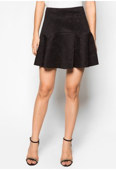 Luxe Panelled Skater Skirt