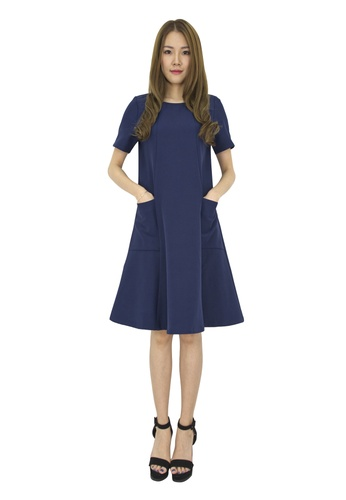MOONRIVER blue Lisa Midi Dress MO886AA0FAKYSG_1