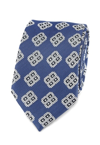 Burton Menswear London navy Diamond Tie And Pocket Square Set BU964AC0S2BAMY_1