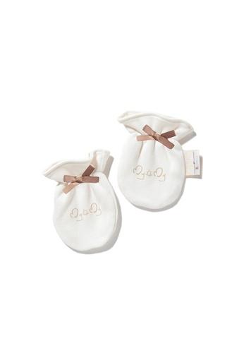 Vauva white Vauva My MY Milk Fiber Baby Girls Ribbon Gloves 67FB9KC89A445EGS_1