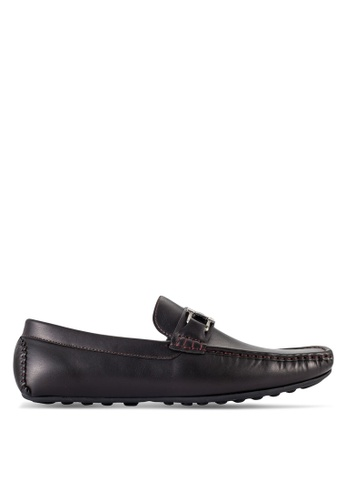 UniqTee brown Loafers With Buckle Detail UN097SH81RQOMY_1